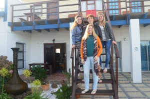 Mirthe and friends from Holland